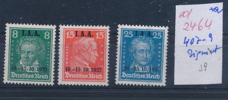 D.-Reich Nr.  407-9 signiert   (ed2464  ) siehe scan