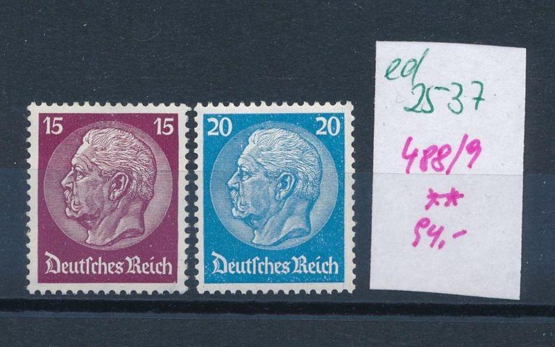 D.-Reich Nr.  488-9  **  (ed2537  ) siehe scan