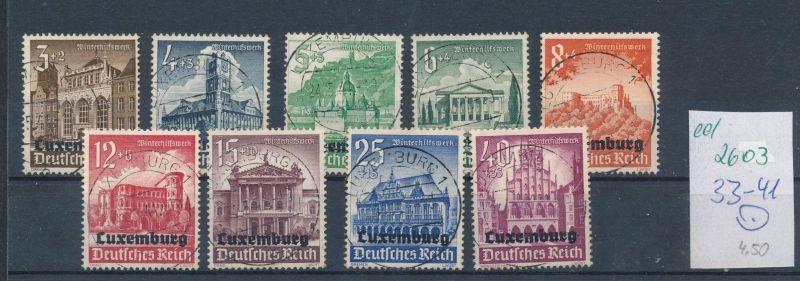 Luxemburg  Nr.33-41 o    (ed2603  ) siehe scan