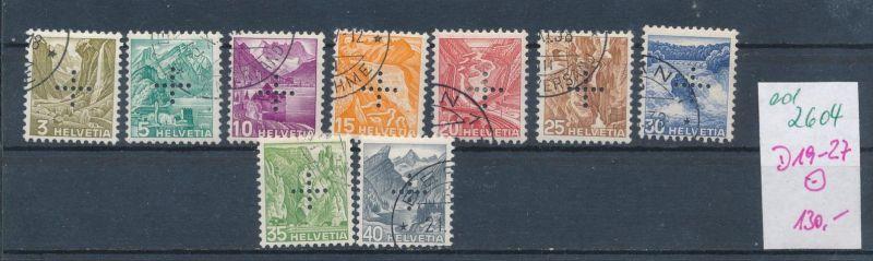 Schweiz Dienst  Nr.19-27  o    (ed2604  ) siehe scan