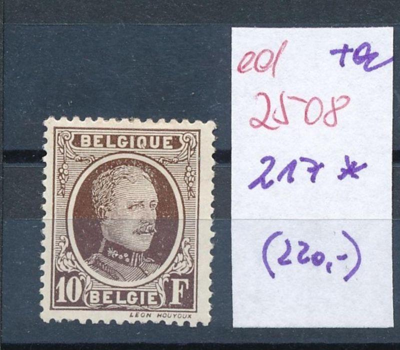 Belgien Nr. 217  * (ed2508  ) siehe scan