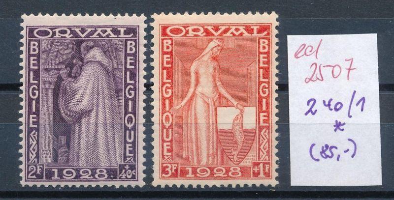 Belgien Nr. 240-1  * (ed2507  ) siehe scan