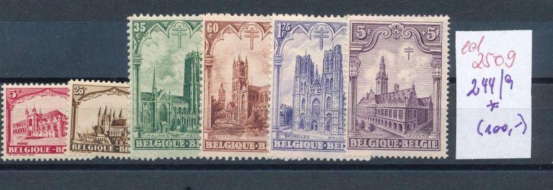 Belgien Nr. 244-49   * (ed2509  ) siehe scan