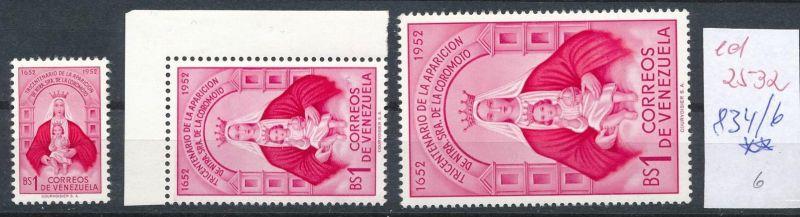 Venezuela Nr. 834-6  **  (ed2532  ) siehe scan