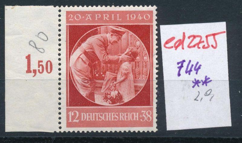 D.-Reich Nr. 744  **   (ed2755  ) siehe scan