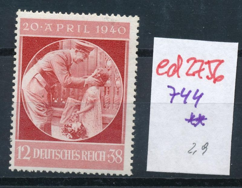 D.-Reich Nr. 744  **   (ed2756  ) siehe scan