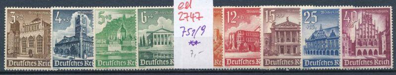 D.-Reich Nr. 751-9    **   (ed2747  ) siehe scan