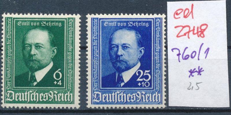 D.-Reich Nr. 760-1    **   (ed2748  ) siehe scan