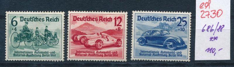 D.-Reich Nr. 686-88    **   (ed2730  ) siehe scan