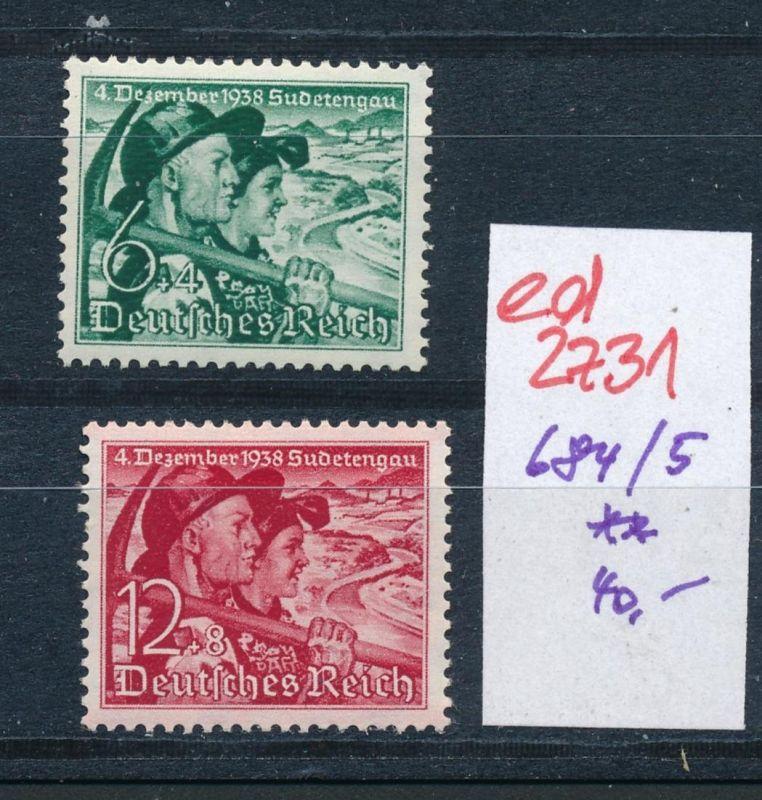 D.-Reich Nr. 684-5    **   (ed2731  ) siehe scan