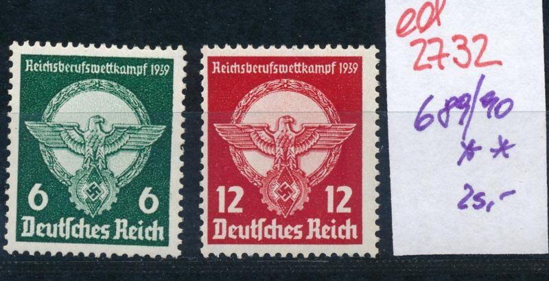 D.-Reich Nr. 689-90    **   (ed2732  ) siehe scan