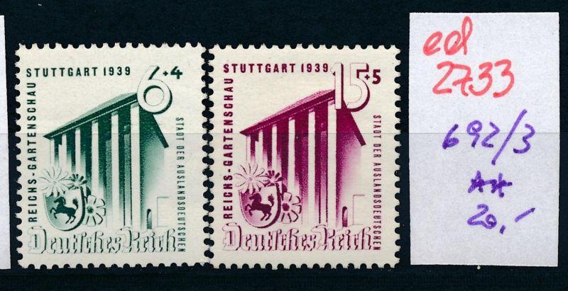 D.-Reich Nr. 692-3   **   (ed2733  ) siehe scan