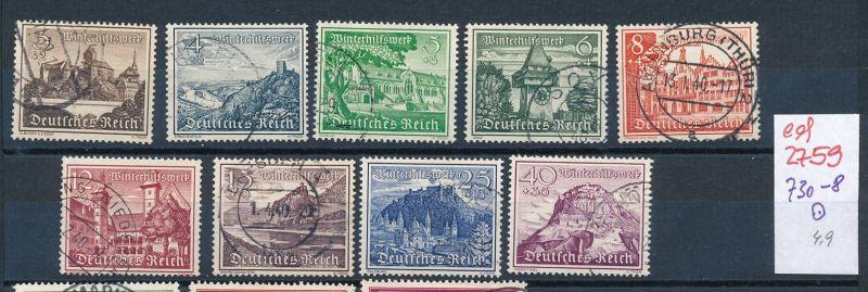 D.-Reich Nr. 730-8   o   (ed2759  ) siehe scan