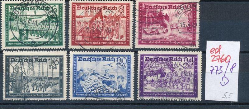 D.-Reich Nr. 773-8  o   (ed2760  ) siehe scan
