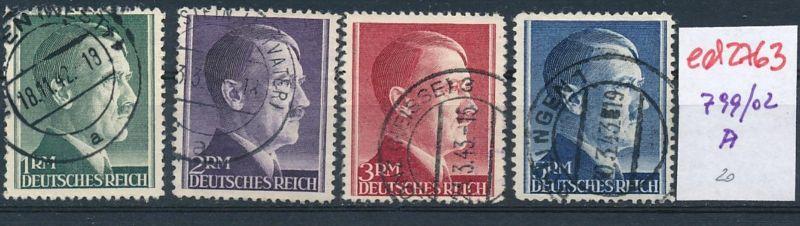 D.-Reich Nr. 799-802  A   (ed2763  ) siehe scan