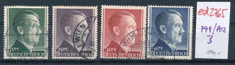 D.-Reich Nr. 799-802  B   (ed2765  ) siehe scan