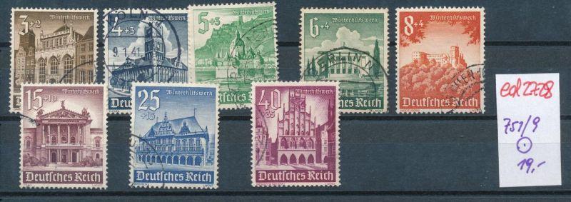 D.-Reich Nr. 751-9   (ed2728  ) siehe scan