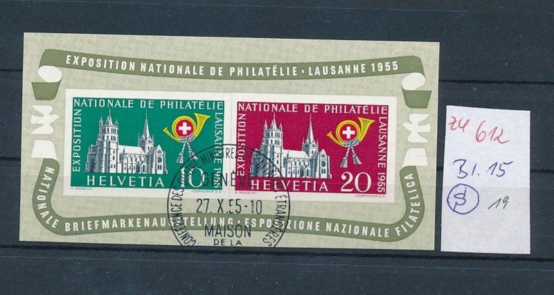 Schweiz  Bl.15  o   (zu612  ) siehe scan