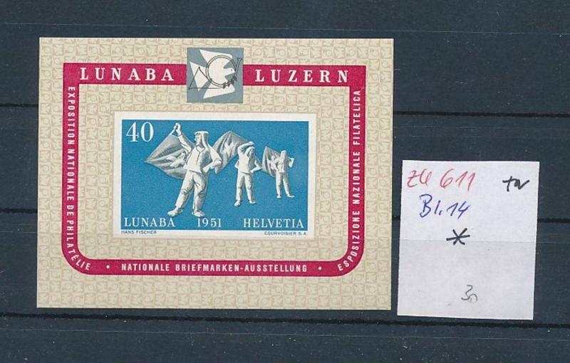 Schweiz  Bl.14  *  (zu611  ) siehe scan