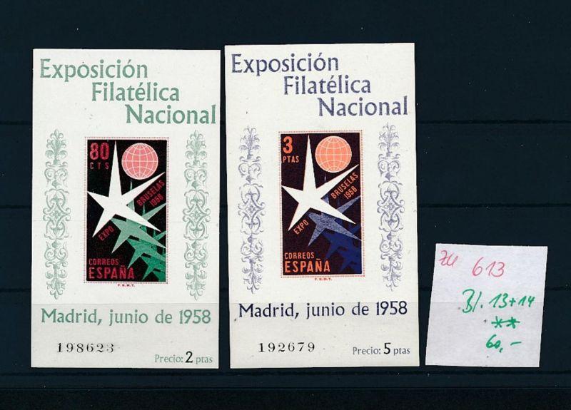 Spanien Block  13+14  **    (zu613  ) siehe scan