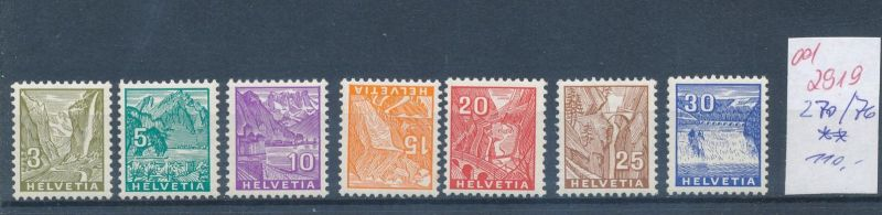 Schweiz   Nr. 270-76   **    (ed2919  ) siehe scan