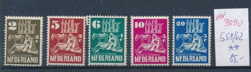Niederlande Nr. 558-62  **   (ed3090  ) siehe scan