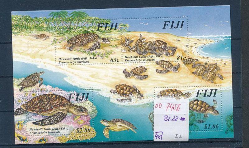 Schidkröten Fiji  Block   **   (oo7456  ) siehe scan