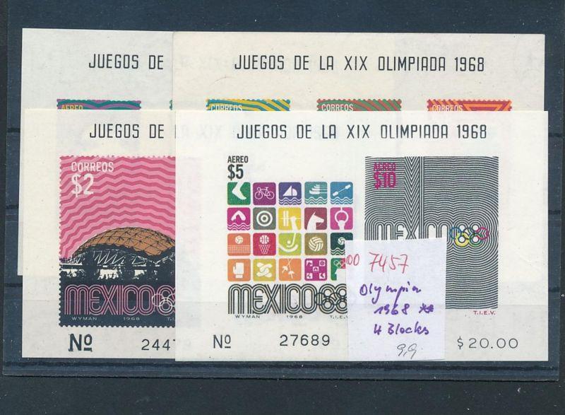 Mexiko Olympia 4  Blocks   **   (oo7457  ) siehe scan