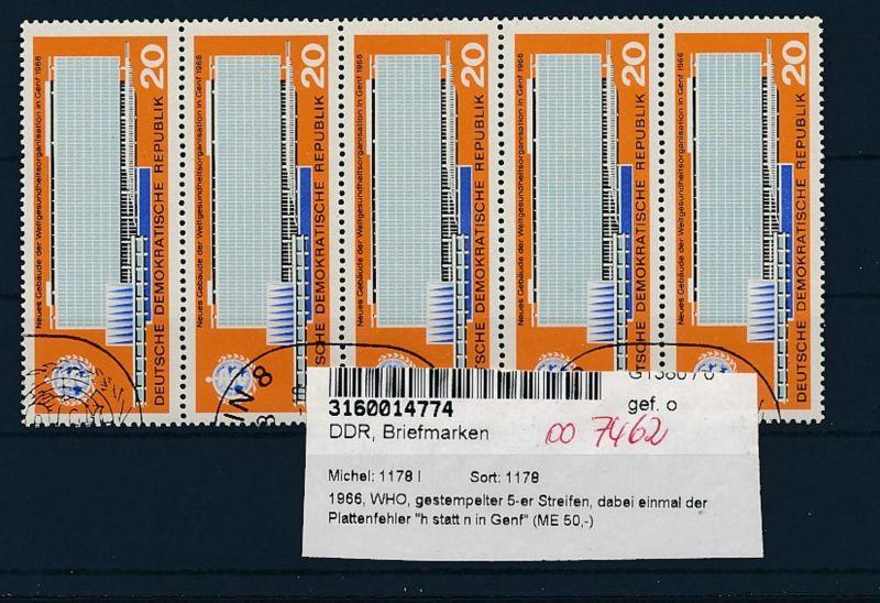 DDR  Nr. 1178 .....I PLF  o   (oo7462  ) siehe scan