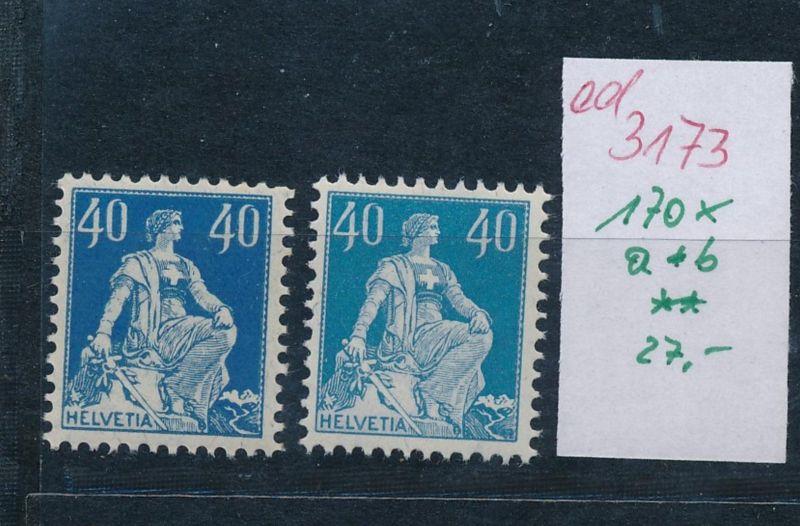 Schweiz Nr. 170x   a+b   **   (ed3173  ) siehe scan