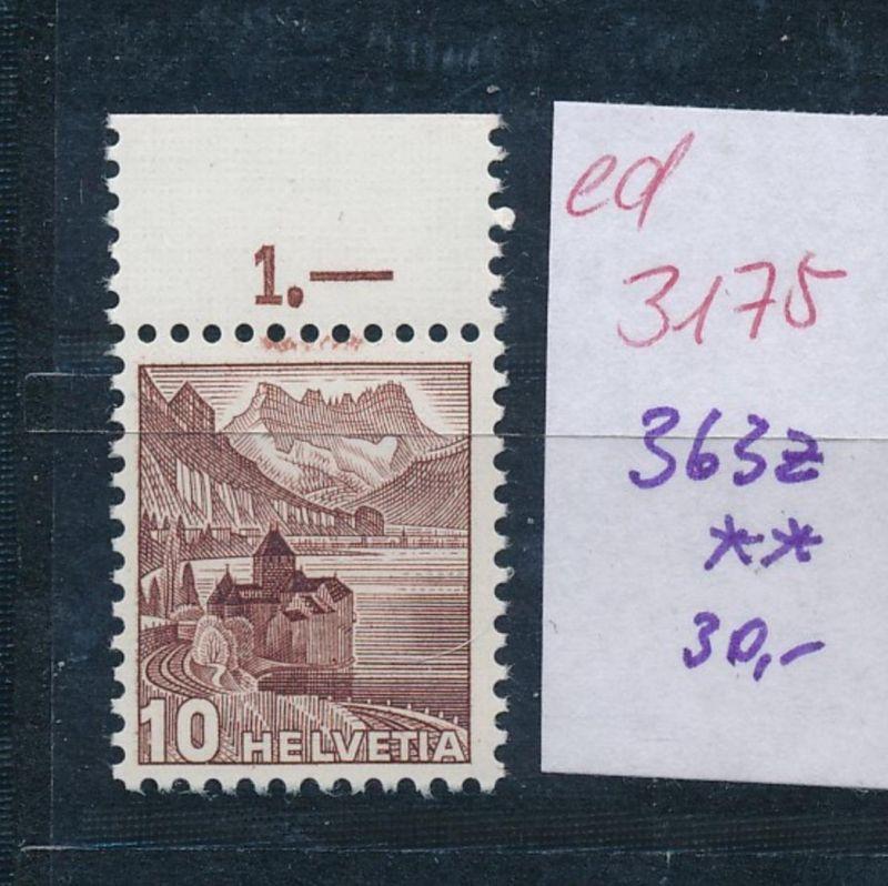 Schweiz Nr. 363  z   **   (ed3175  ) siehe scan