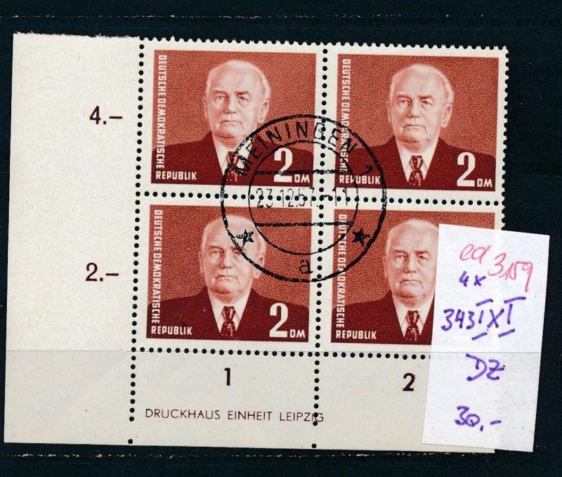 DDR  Nr. 4x 343 IxI   DZ  o    (ed3159  ) siehe scan