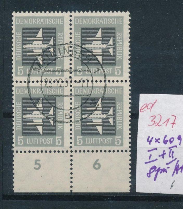 DDR Nr. 4x 609 mit  I+II  o   (ed3217  ) siehe scan