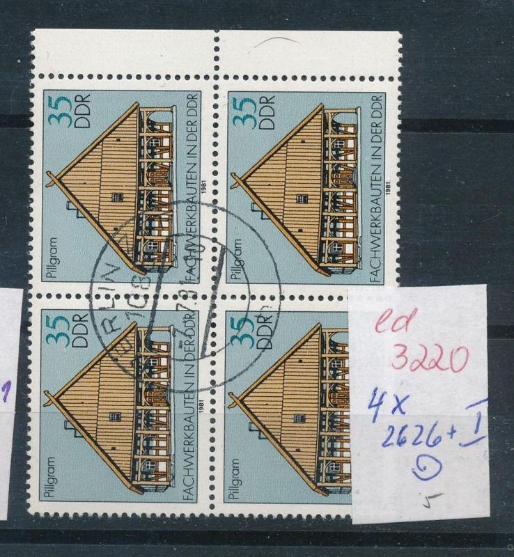 DDR Nr.  4x 2626 dabei  I  o   (ed3220 ) siehe scan