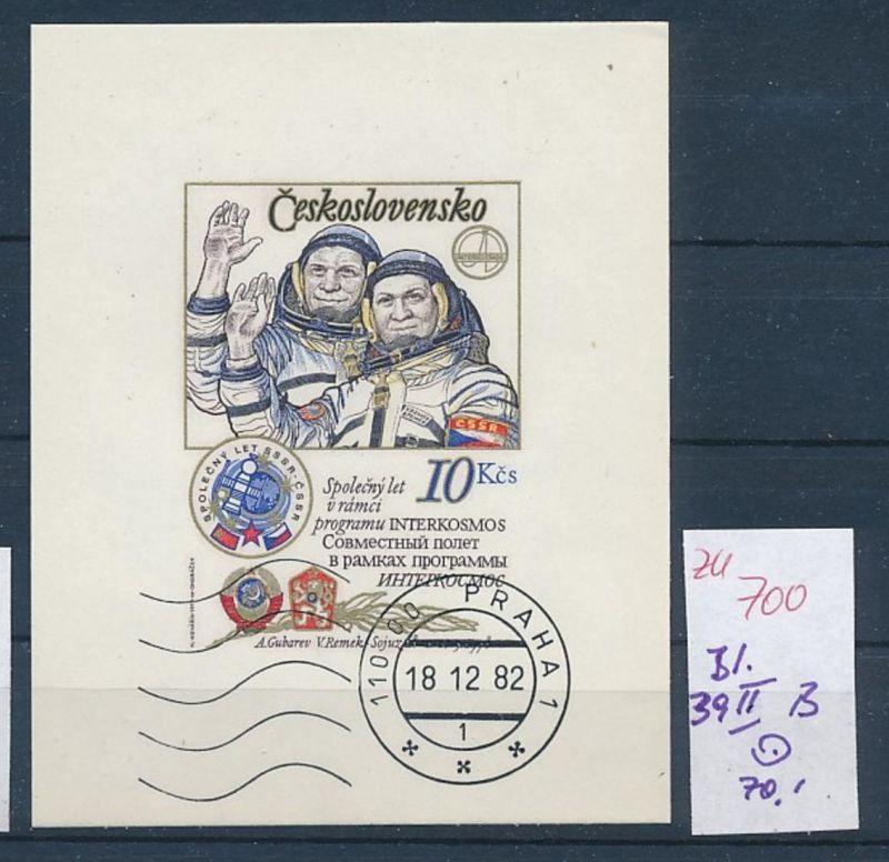 Kosmos Tschechen Block 39 II  B  o   (zu700  ) siehe scan