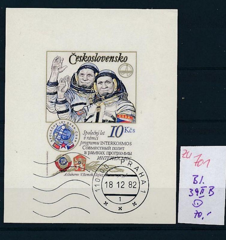 Kosmos Tschechen Block 39 II  B  o   (zu701  ) siehe scan