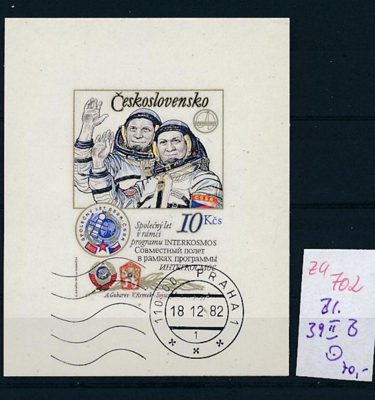 Kosmos Tschechen Block 39 II  B  o   (zu702  ) siehe scan