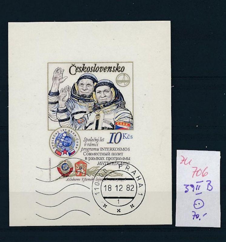 Kosmos Tschechen Block 39 II  B  o   (zu706  ) siehe scan
