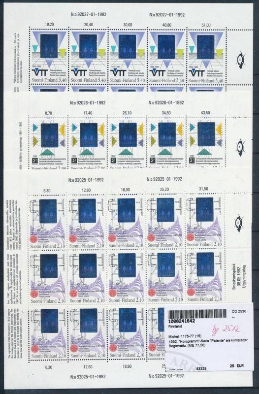 Finnland-Hologramm Serie im Kleinbogen 1175-77  **    (bg2512  ) siehe scan