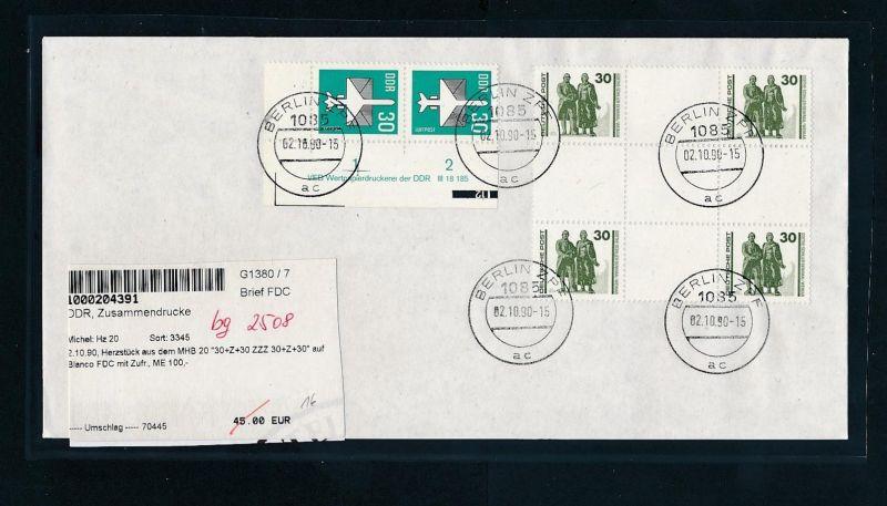 DDR  FDC  mit HZ 20    (bg2508  ) siehe scan