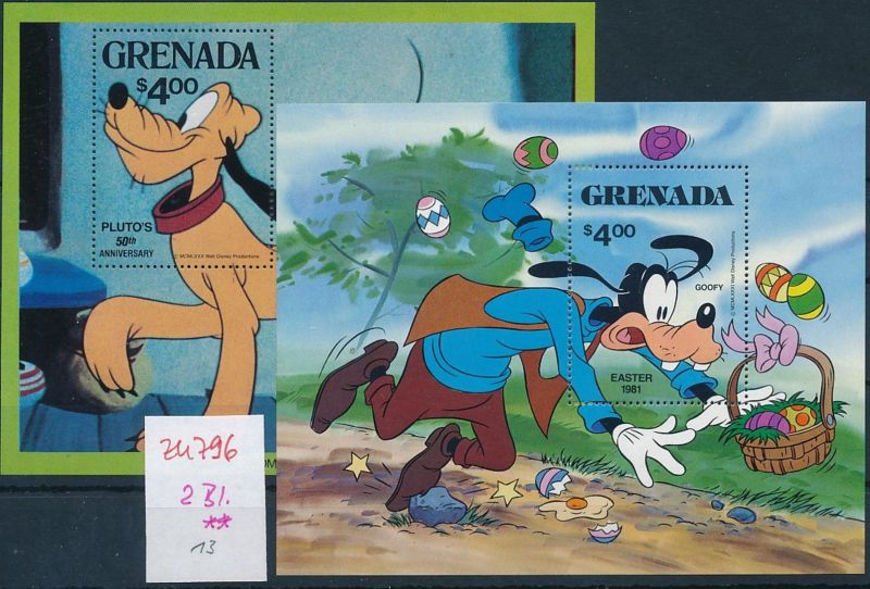 Disney 2 Blocks ** - Grenada   (zu796   ) siehe scan