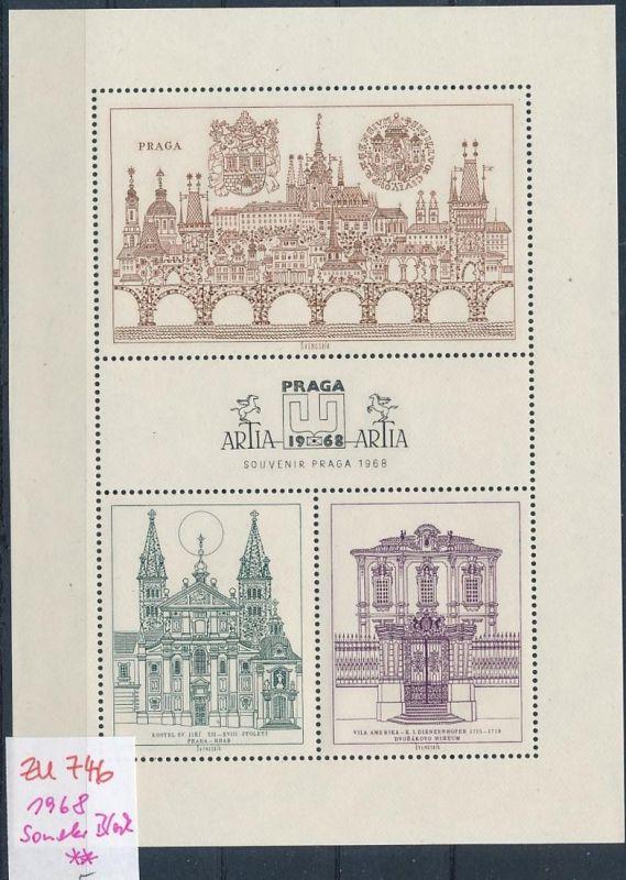 Tschechen Souvenier Block  **  (zu746   ) siehe scan