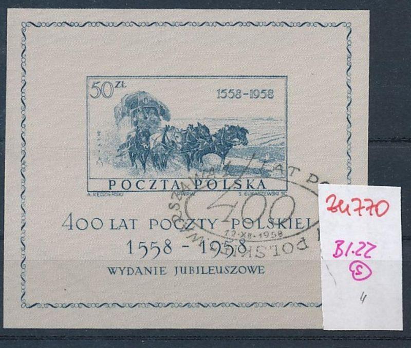 Polen  Block 22   o  (zu770  ) siehe scan