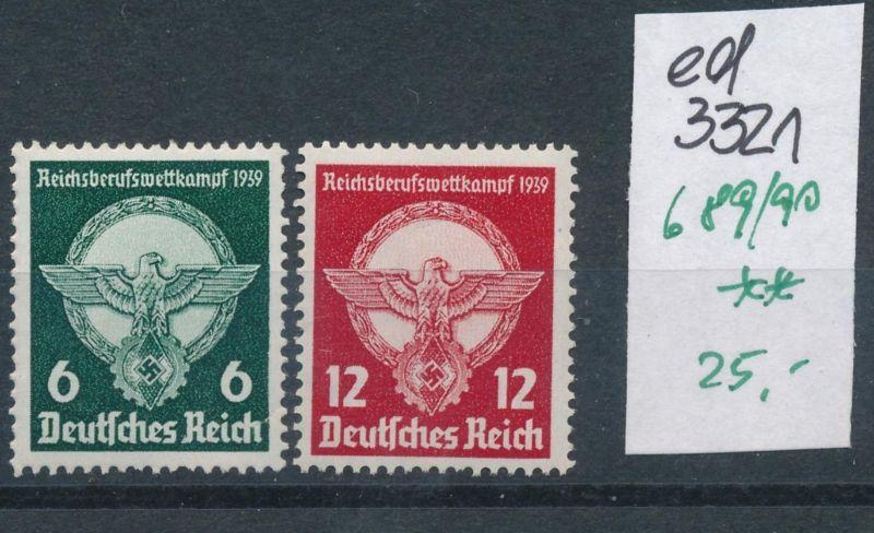 D.-Reich Nr. 689-90   **     (ed3321  ) siehe scan