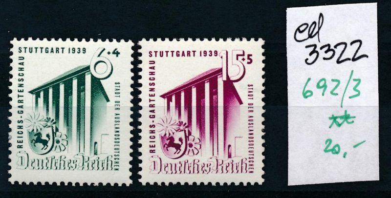 D.-Reich Nr. 692-3  **     (ed3322  ) siehe scan