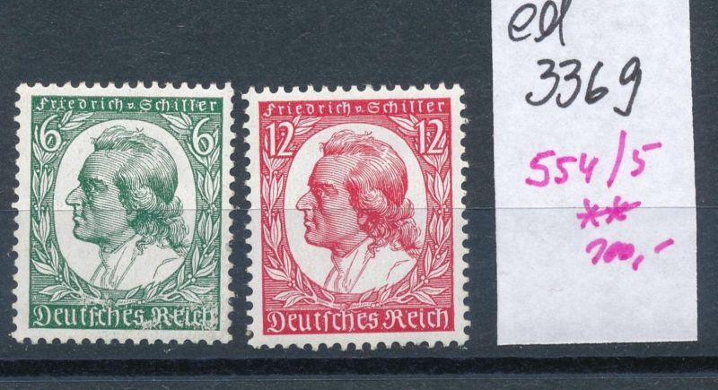 D.-Reich Nr. 554-55    **    (ed3369  ) siehe scan