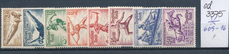 D.-Reich Nr. 609-16   *    (ed3375  ) siehe scan