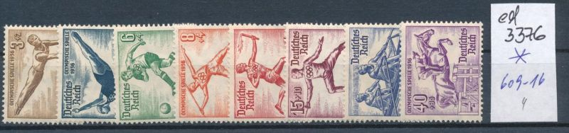 D.-Reich Nr. 609-16   *    (ed3376  ) siehe scan
