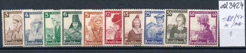 D.-Reich Nr. 588-97     (ed3424  ) siehe scan