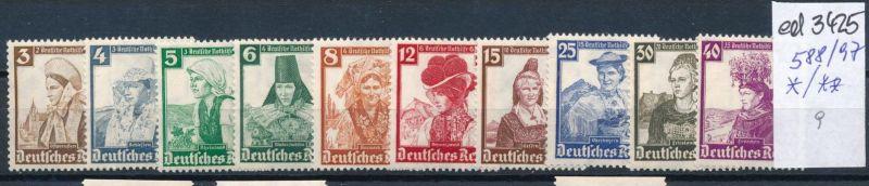 D.-Reich Nr. 588-97     (ed3425  ) siehe scan